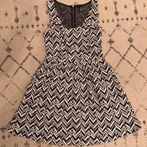 Aqua brand black and white chevron dress!